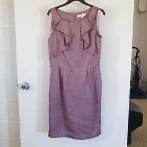 Womans sleevless dress mauve size 8T